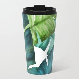 Tropical Banana Leaves Unique Pattern Travel Mug