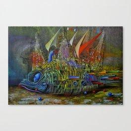 Fish-ship Canvas Print