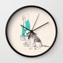 girl n dog Wall Clock