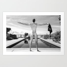 Freedom Man Nude Art Print