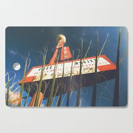 free movies ! (Las Vegas vintage Neon Motel sign photo) Cutting Board