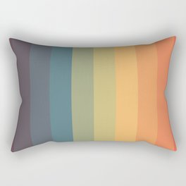 Colorful Retro Striped Rainbow Rectangular Pillow