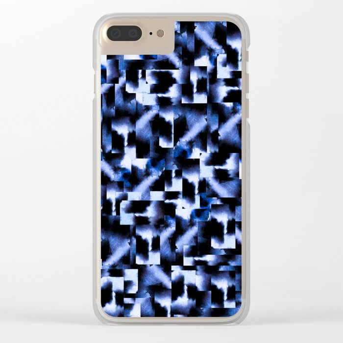 Shattered Nights Clear iPhone Case