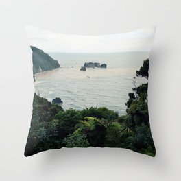 New Zealand Coast Throw Pillow
