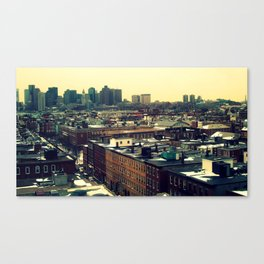 Streets of Boston Canvas Print