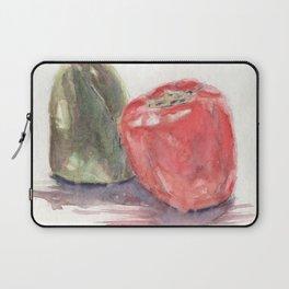 Watercolor Bell Pepper Laptop Sleeve