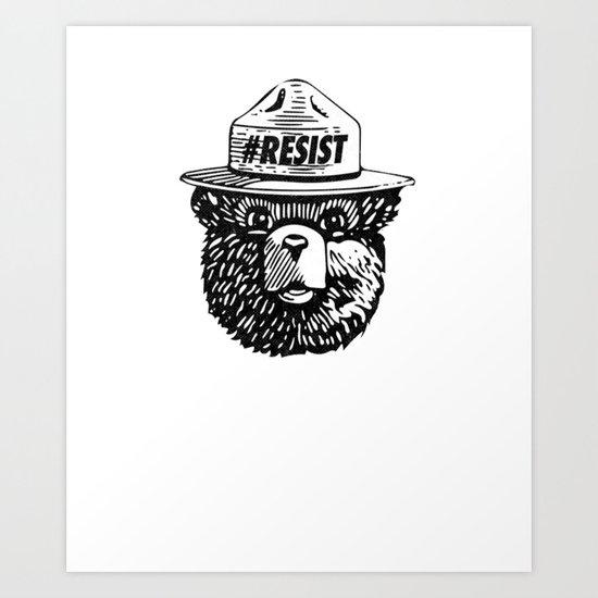 #Resist Art Print