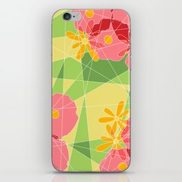 Floral Cubed iPhone Skin