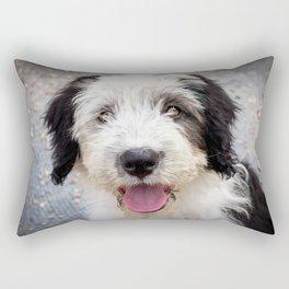 Sheepdog Puppy Rectangular Pillow