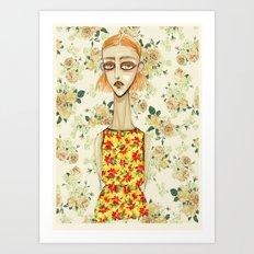 flowerella 3 Art Print