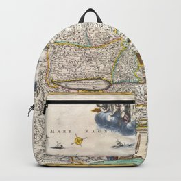 Old 1720 Historic State of Palestine Map Backpack