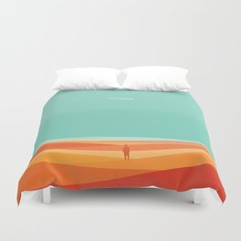 Where the sea meets the sky Duvet Cover
