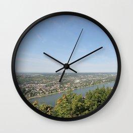 Scenic Rhine Valley Wall Clock