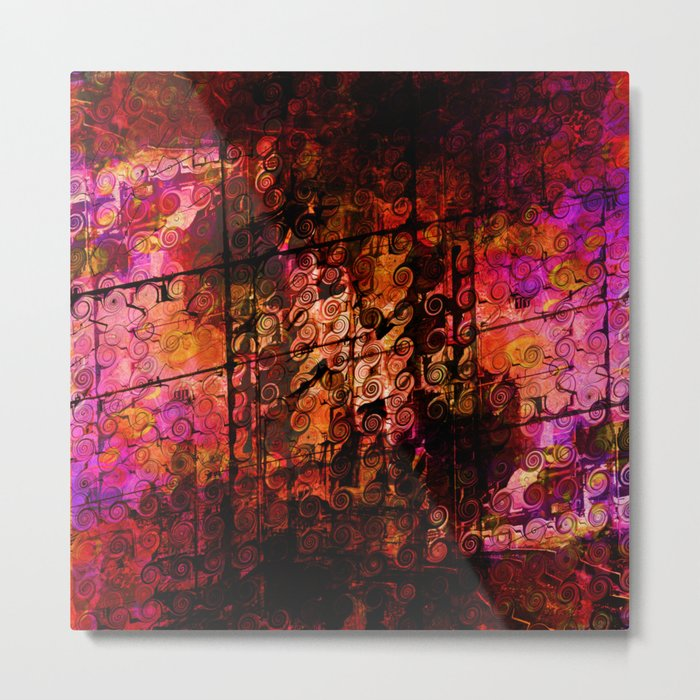 Compelling, Abstract Landscape Art Lines Swirls Metal Print