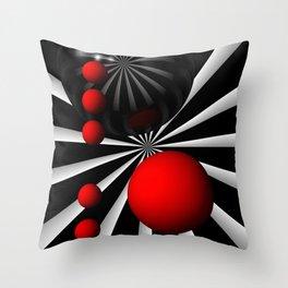 red white black -100- Throw Pillow