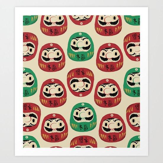 super daruma bros Art Print