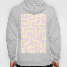 Cream Yellow and Pink Lace Labyrinth Hoody