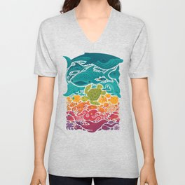 Aquatic Spectrum Unisex V-Neck
