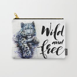 Snow leopard wild and free Carry-All Pouch