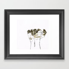 Golden hand Framed Art Print