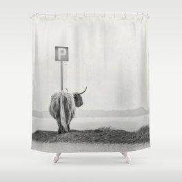 highland visitor Shower Curtain