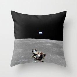 Nasa Picture 2: Apollo 11 the lunar module Throw Pillow