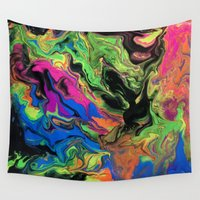 hydra Wall Tapestries featuring Hydra Goo by SpaghettiLegz
