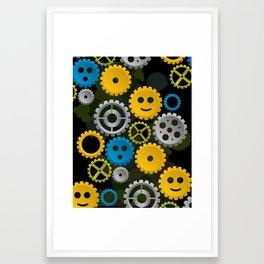 Happy Gears Framed Art Print