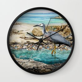 Lunch at the Beach Wall Clock