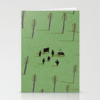twin peaks Stationery Cards featuring twin peaks by Dale Crosby Close