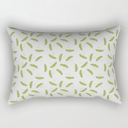 Edamame pattern with a gray background Rectangular Pillow