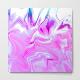 Purple Fire Metal Print