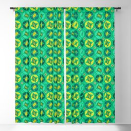 Green Beetles Blackout Curtain