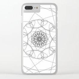 love mandala number 2 Clear iPhone Case