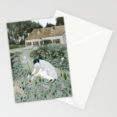 Planting Irises Stationery Cards