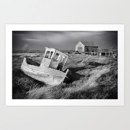 The Boat and Coal Shed, Thornham, Norfolk Art Print