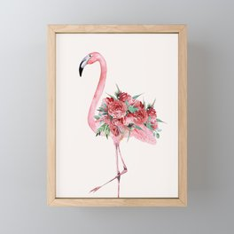 Flamingo Floral Framed Mini Art Print