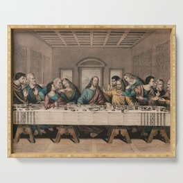 The Last Supper - Vintage Currier and Ives Print Serving Tray