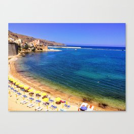 Beaches of Sicily Canvas Print
