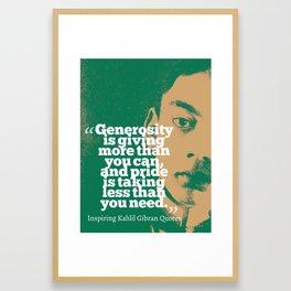 Most Inspiring Kahlil Gibran Quotes - 21 Framed Art Print