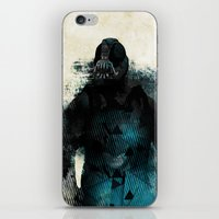 bane iPhone & iPod Skins featuring Abstract BANE by DesignLawrence