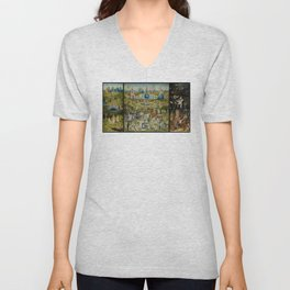The Garden of Earthly Delights - Hieronymus Bosch Unisex V-Neck