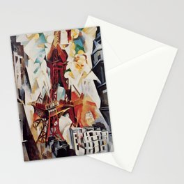 """Robert Delaunay """"Graphic Champs de Mars: The Red Tower"""" Stationery Cards"""