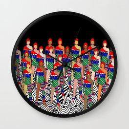 Red Headed Dolls Wall Clock