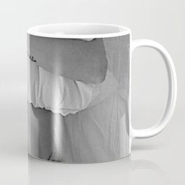Mission: Get out of bed ... Status: Close enough! black and white morning photograph / photography Coffee Mug