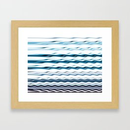 Waves to relax by Framed Art Print