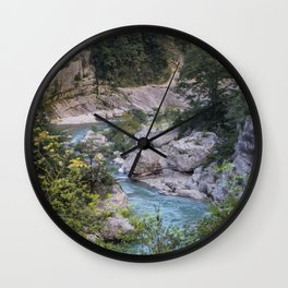 Walking by the river Wall Clock