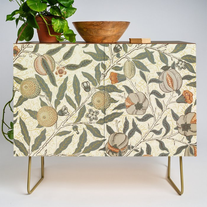 William_Morris_Fruit_Pattern_Credenza_by_colorfuldesigns__Gold__Walnut