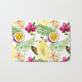 Fruits and Flowers Bath Mat
