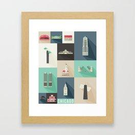 Chicago Landmarks Framed Art Print